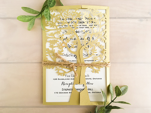 Wedding Invitation lc39: Cream Smooth