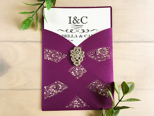 Wedding Invitation lc70: Brooch/Buckle A17