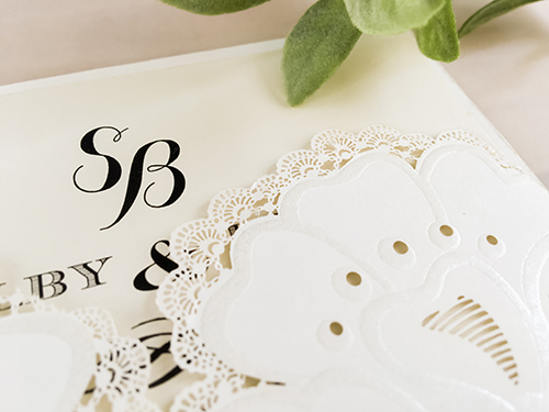 Wedding Invitation lc85: Cream Smooth