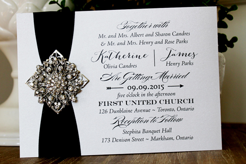 brooch gorgeous wedding il product invitation vendors antique vintage flourish