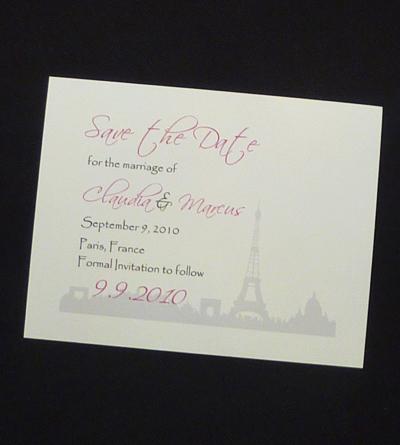 wedding invitation savethedate10 white smooth scriptina papyrus - Papyrus Wedding Invitations