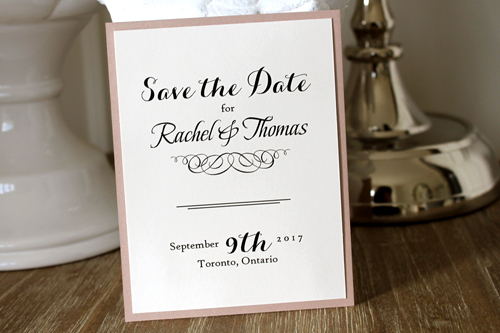 Wedding Invitation SavetheDate18: Blush Pearl