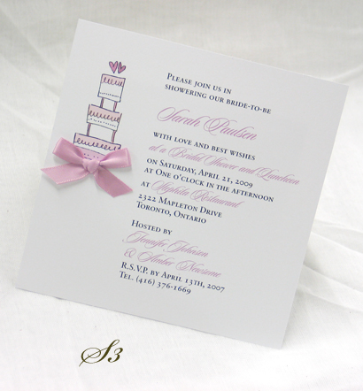 Invitation S3: White Smooth, Sloop, Sabon Roman