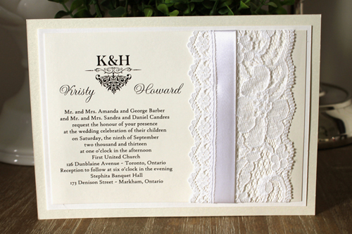Wedding invitation 1107 white gold pearl request a free sample of this invitation by clicking here stopboris