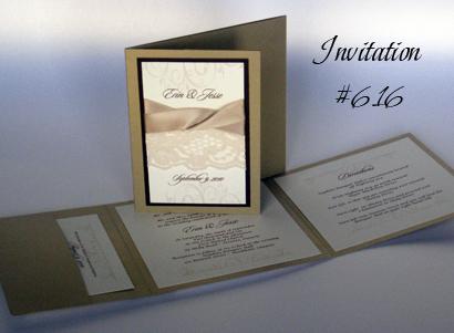 Invitation 616 Gold Pearl Chocolate Linen Cream Smooth Sloop