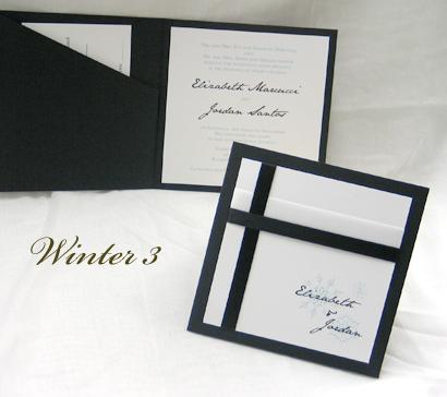 wedding invitation winter3 black linen white smooth jane austen sabon roman