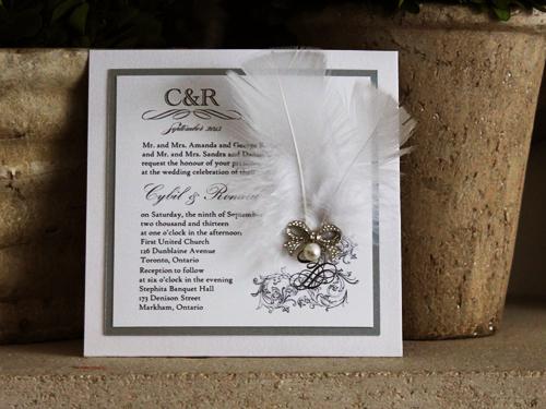 Wedding invitation 773 ice pearl wedding invitation 773 ice pearl chalice silver pearl white smooth high tower stopboris Choice Image